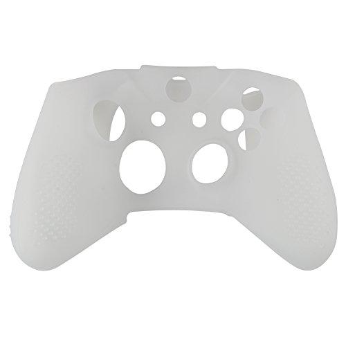 Demiawaking Silikon Gummi Haut Schutzhülle Abdeckung für Microsoft Xbox One S Controller (Weiss)