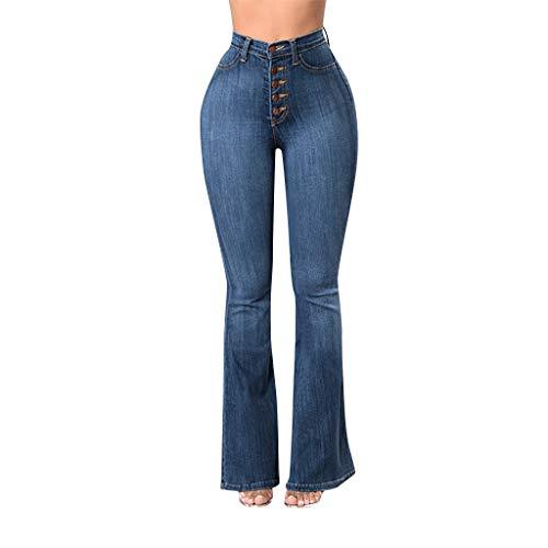 SuperSU Damen Slim Einreiher Hohem Bund Bootcut Jeans Jeans mit Taschen,Stretch Bleistifthose Sweathose Capris Leggings Hose Jumpsuits