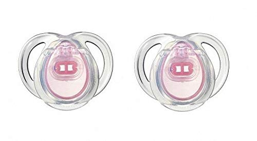 """TOMMEE TIPPEE""""ANY TIME""""-2x Physiological Silicone Pacifiers Soothers Dummies/PINK (0-6m)"""