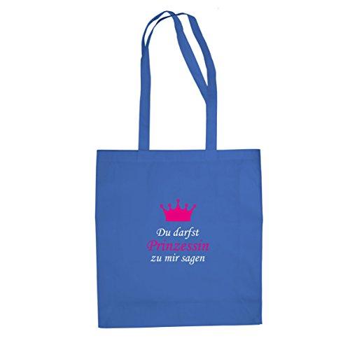 Du darfst Prinzessin zu mir sagen - Stofftasche / Beutel, Farbe: (Blau Kostüm Kumpels)