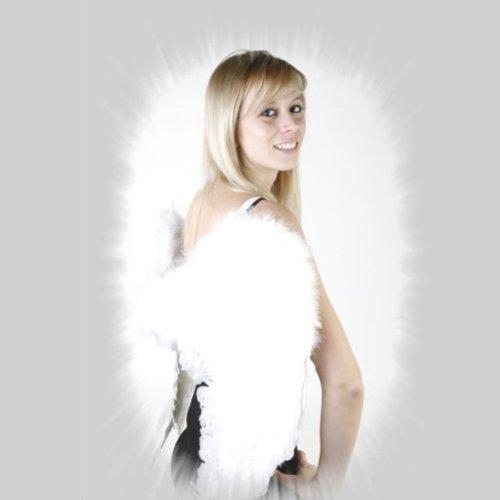 Engelsflügel aus Federn, 60 x 50 cm (Himmlische Engel Kind Kostüme)