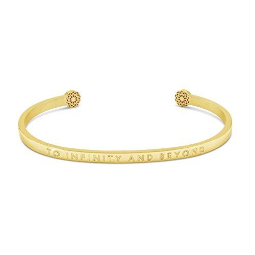 Simple Pledge - to Infinity and Beyond - Blind - Armreif in Gold mit Gravur für Damen