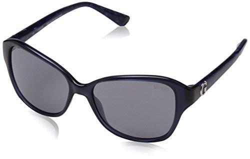 Guess Damen GU7355 Sonnenbrille, Blau (Blu), 55