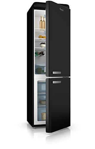 Swan SR11020BN, Freestanding Retro Fridge Freezer 70/30, A+ Rated, 300 Litre, Matt Black