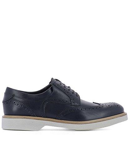 Salvatore Ferragamo Homme 0662225 Bleu Cuir Chaussures À Lacets