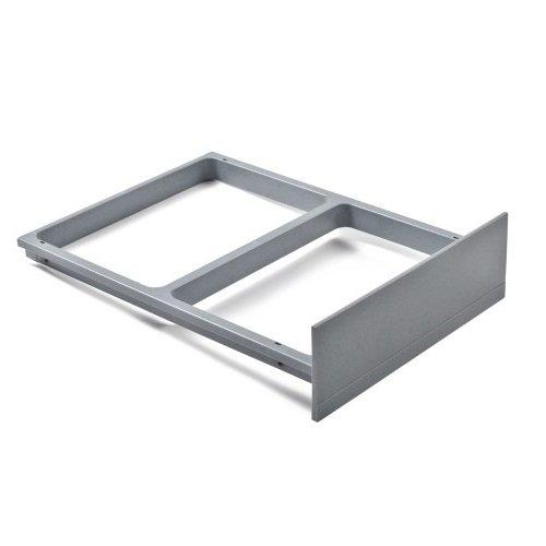 Hailo 1094099 Clipsrahmen Grau für Abfallsammler Rondo und Raumspar-Tandem Abfallsammler, Plastik, 46.3 x 33.6 x 10.8 cm