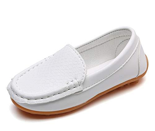Amitafo Mocasines de Cuero para Niños Moda Casual Zapatos del Barco Chicos Chicas Linda Comodidad Loafers...