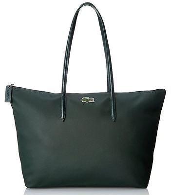 Borsa LACOSTE L1212 NF1344 PO LARGE SHOPPING BAG DEEP FOREST VERDONE Fashion