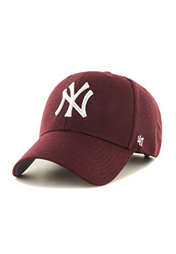 47Brand MVP Adjustable Cap NY Yankees B-MVP17WBV-KMA Dunkelrot, Size:ONE Size -