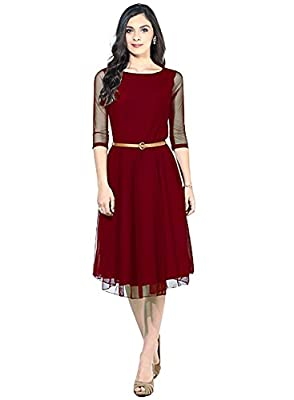 "Clothfab Women's Net Maroon Kurta (76-Maroon-Kurti_X-Large) - Maroon This Product is Manufactured by ""Clothfab"", Well Established Brand from Gujarat Since 35 years. ""Clothfab"" Sarees has a in House unit to make the product from scratch, from fabric to the"