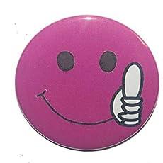 Smiley Kühlschrankmagnet rund 50mm groß Daumen hoch
