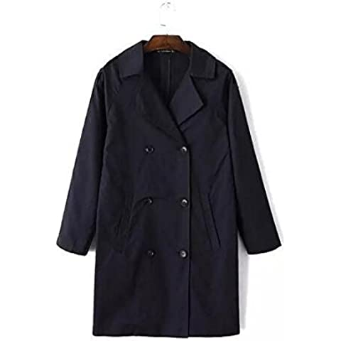 GS~LY Cappotto cappotto Slim Abbigliamento donna / / geometric pattern / cappotto , navy , s