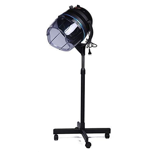 Casco Secador de Pelo, Profesional Calentador Campana De Pie con Temporizador Ajustable Altura para Peluquería Belleza Salón 950W (Negro)