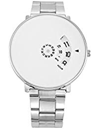 BigMall Turnable Analogue White Dial Men's Watch (White) - S Fashion