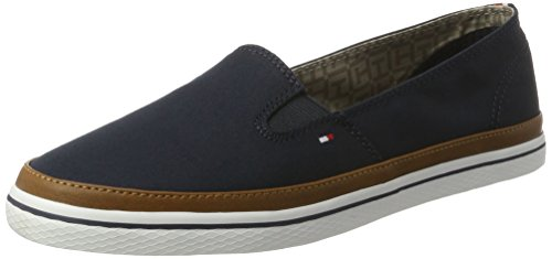 Tommy Hilfiger Damen Iconic Kesha Slip On Slipper, Blau (Midnight 403), 40 EU (Tommy Hilfiger Damen Ballerina Schuh)