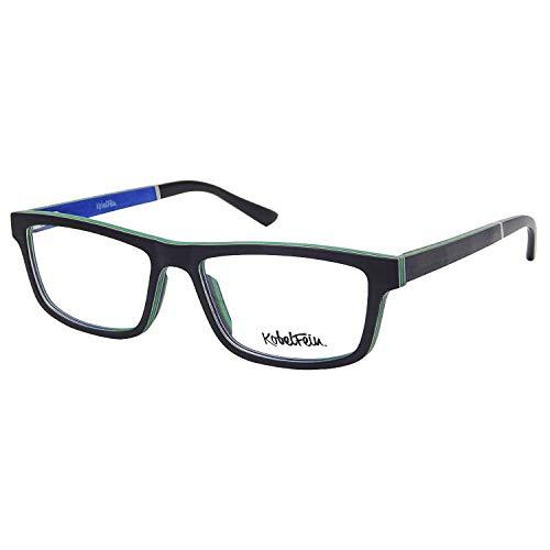 KobelFein. Brillengestelle Holz-Brille Herren Damen inkl. Brillenetui Bambus (Schwarz)