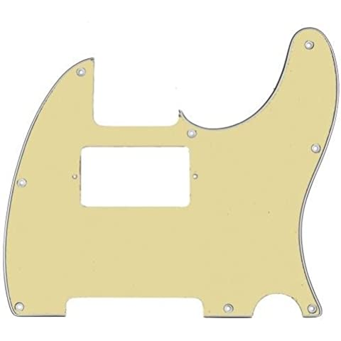 Battipenna per Telecaster-Neck Pickup Humbucker per Fender USA/messicano, Vintage White 3-Ply - Telecaster Humbucker