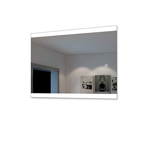 SONNI Badspiegel Lichtspiegel LED Spiegel Wandspiegel 60 x 80cm kaltweiß IP44 energiesparend