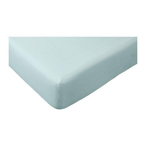 Ikea Dvala–Sábana bajera (100% algodón Varios Colores y Tamaños a Elegir, azul...
