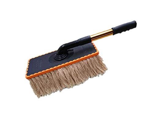 XH Shop Car wash mop Autowaschmopp Edelstahl Teleskopgriff Wachs Drag Autowaschbürste Autowaschwerkzeug Autowachstopf Wachsbürste (Color : Beige) Wash Mop