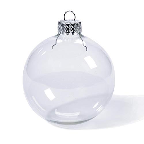 Handwerk Glas Ornament klar Heavy Duty rund 70mm 6Stück (24er Pack) 2610-42 ()