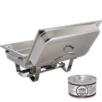 SPEZIELLES ANGEBOT Chafing Dish mit 24xBrennpastengel Chafing Dish Fuel