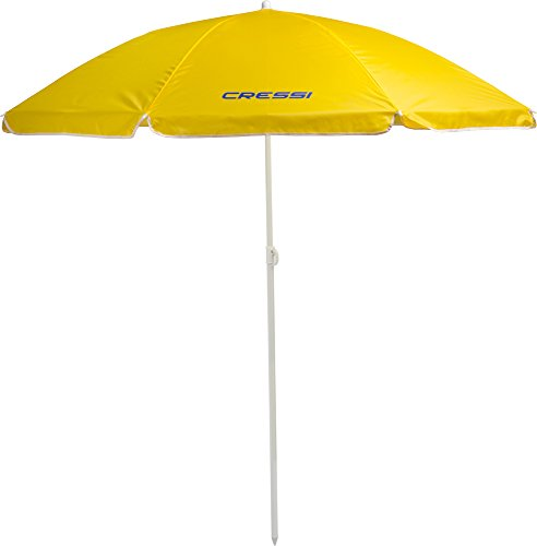 Cressi Beach Umbrella Parasols Mixte, Jaune, Unique