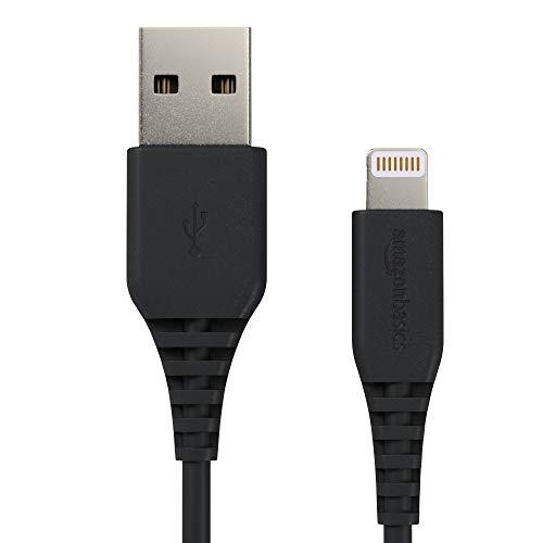 AmazonBasics Lightning auf USB A Kabel, Apple MFi Zertifiziert - Schwarz, 1,8 m, 2er Pack -