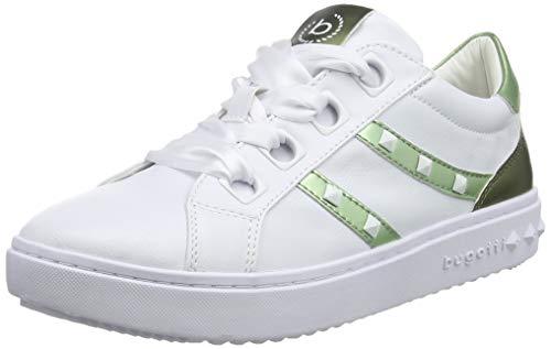 bugatti Damen 431636045959 Sneaker, Mehrfarbig (White/Light Green 2072), 39 EU