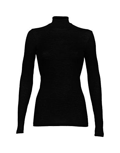 DILLING Rippshirt für Damen mit Stehkragen aus 100% BIO-Merinowolle