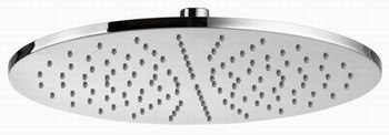 Luxus Design Regendusche Komplett Set rund Unterputz Duschset mit grossem Edelstahlduschkopf 30 cm Edelstahl verchromt extra dünn