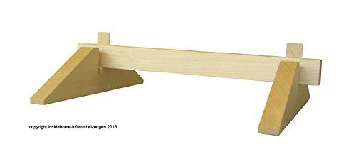 Vollholz Standbügel Universal für rahmenlose Infrarotheizungen - Massivholz Esche