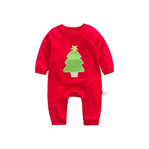 Poonkuos Baby Jumpsuit Kleinkind Strampler - Kinder Body Neugeborene Creeper Nachtwäsche Xmas Baumwolle Nachtwäsche Langarm Pyjamas 3 M - 2 T - 1. Christmas Infant Creeper