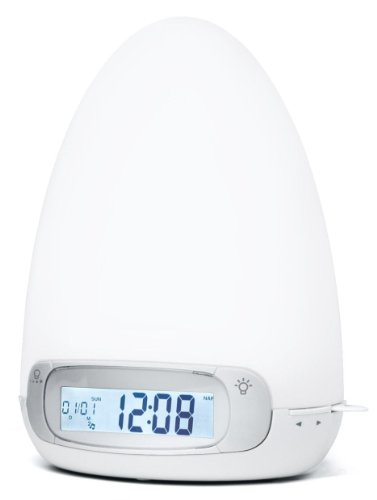 Muse ML-30 CR Multi-coloured Mood Light with Radio Alarm and FM / MW Tuner White