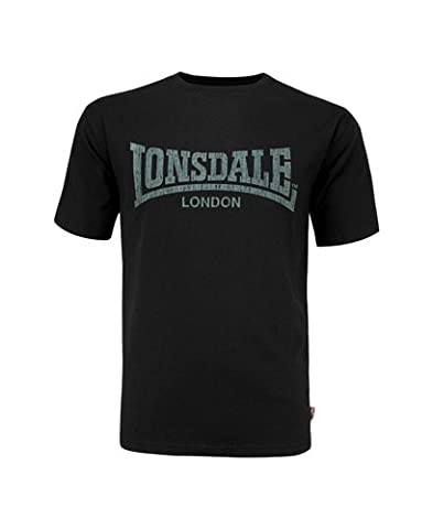 Lonsdale T-Shirt Trägerhemd Logo Kai - T-Shirt À Manches Longues Homme, Noir (Schwarz) - Medium (Taille fabricant: Medium)
