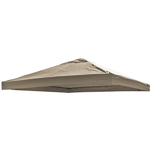 Universal Ersatz Dach für Pavillon 3x3 M Farbe Taupe Wasserdicht PVC beschichtet 220gr. Polyester mit Luftluke -