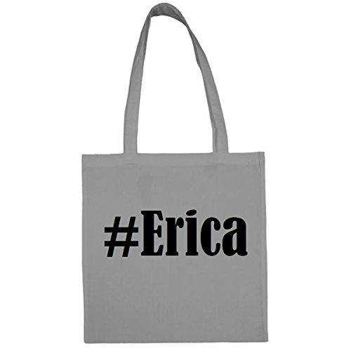 Tasche #Erica Größe 38x42 Farbe Grau Druck Schwarz