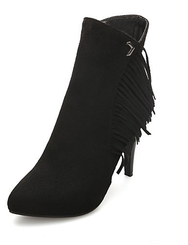 ShangYi Mode Frauen Schuhe Damen Stiefel Frühjahr / Herbst / Winter Fashion Stiefel / Schuhe Outdoor / Kunstleder and Stiletto HeelZipper Rot