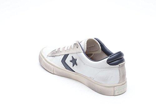Converse Pro Leather Vulc Ox, Sneaker a Collo Basso Uomo bianco blu