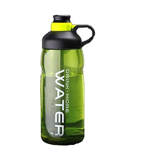 Große Kapazität Wasserflaschen BPA-frei Gym Fitness Wasserkocher Outdoor Camping Picknick Fahrrad Fahrrad Klettern Shaker Flaschen 2000ml grün -