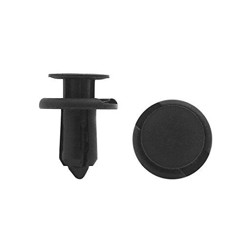 20 Pcs Noir pince de boue de tapis de boue de moquette clips de rivetage pare-chocs 8mm