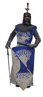 Terry Jones como Sir Bedevere * El Sucio caballeros Collection (versión barro) * 12inch Monty Python y el Santo Grial 2002Sideshow Coleccionable de juguete con figura de acción