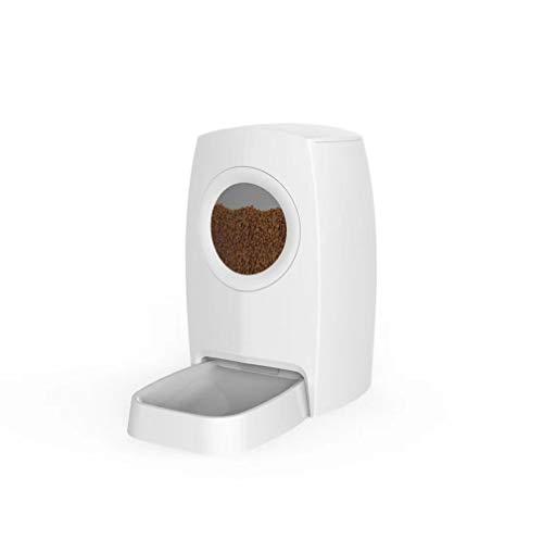 Alimentatore per animali domestici, design nuovo di zecca con alimentatore automatico per animali domestici con finestra trasparente, alimentatore quantitativo per alimenti per cani e gatti di grande