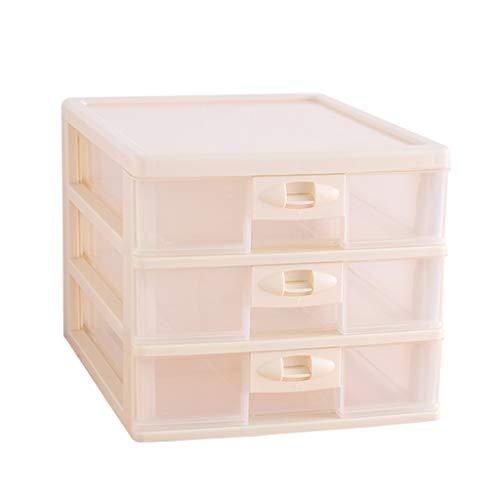 KKY-ENTER Type de tiroir multicouche Boîte de rangement cosmétique En plastique Bureau Rouge à lèvres Bijoux Produits de soin de la peau Boîte de stockage Affichage