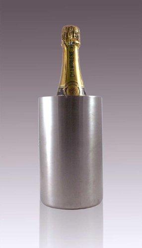 Doppelwandiger Flaschenkühler Thermo Sektkühler Weinkühler 18/8 Edelstahl matt gebürstet