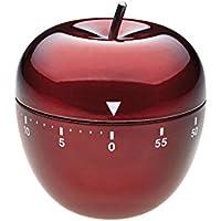 TFA Dostmann Temporizador Cocina Manzana INOX Rojo