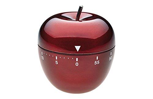 TFA Dostmann Küchentimer Apfel aus Edelstahl in Rot - 38.1030.05