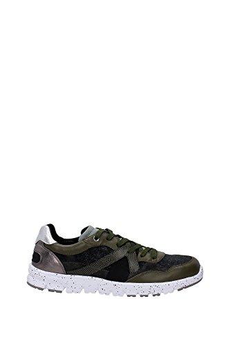 Baskets Dolce & Gabbana en cuir vert foncé et tissu - Code modèle: CS1278 AR017 8B617 Vert