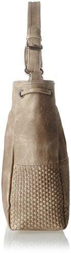 Sansibar Damen Umhängetasche, 12 x 31 x 35 cm Beige (Beige (Natural))