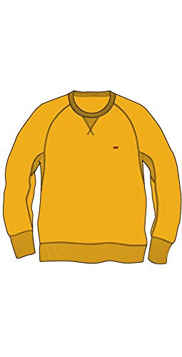 Levi´s ® Herren Sweatshirt Pullover ORIGINAL HM ICON Crew Old Gold S (Icon Crew Sweatshirt)